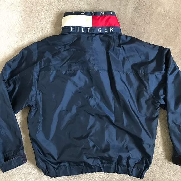 bf29542ef Tommy Hilfiger Jackets & Coats | Jacket Size Large Vintage Spell Out ...